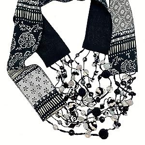 Oreo Scarf Necklace