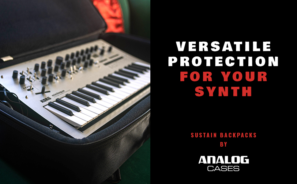 SUSTAIN Backpacks by Analog Cases. Versatile Protection For Your Synth