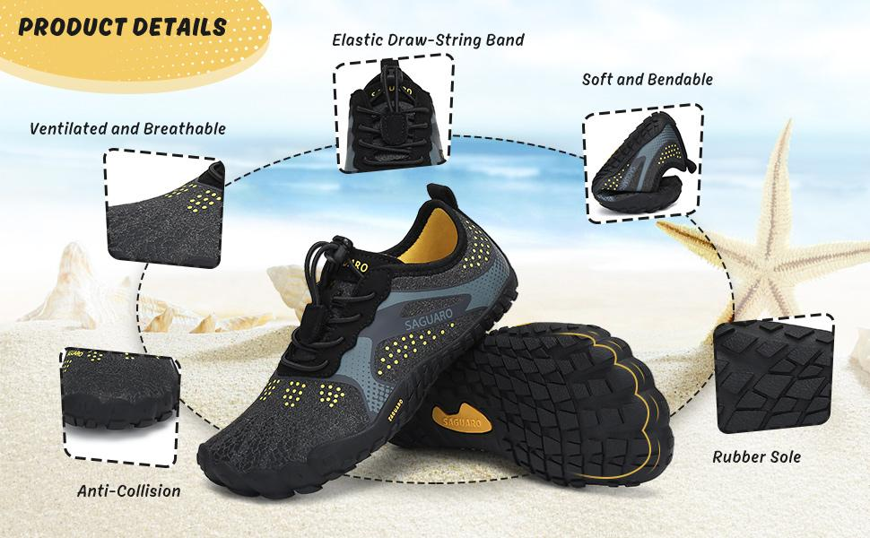 Kids Water Shoes Barefoot Boys Girls Quick Drying Athletic Shoes for Beach Water Sport