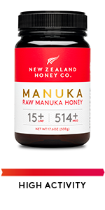 Raw Manuka Honey UMF 15+ MGO 514+ High activity