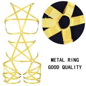 Harness Bra Set+Orange yellow