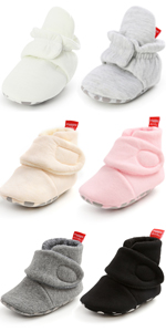 Unisex Newborn Baby Cotton Booties Non-Slip Sole for Toddler Boys Girls shoes