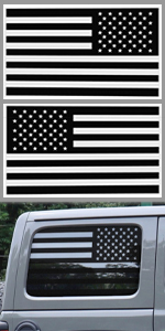 American Flag Window Decals for Jeeps