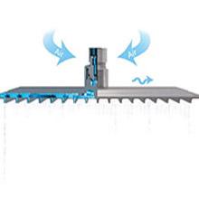 shower head pressure led rain high lights rainfall heads light waterfall showerhead 20 inch large