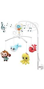 Musical Crib Mobile with music