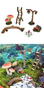 miniature fairy garden fairies toys accessories swing slide indoor outdoor whimsy