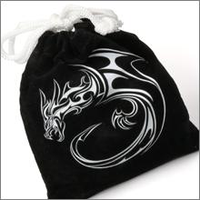 Black Velvet Carrying Bag for Monster Tokens