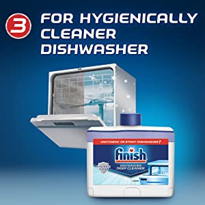 For a hygienically cleaner dishwasher
