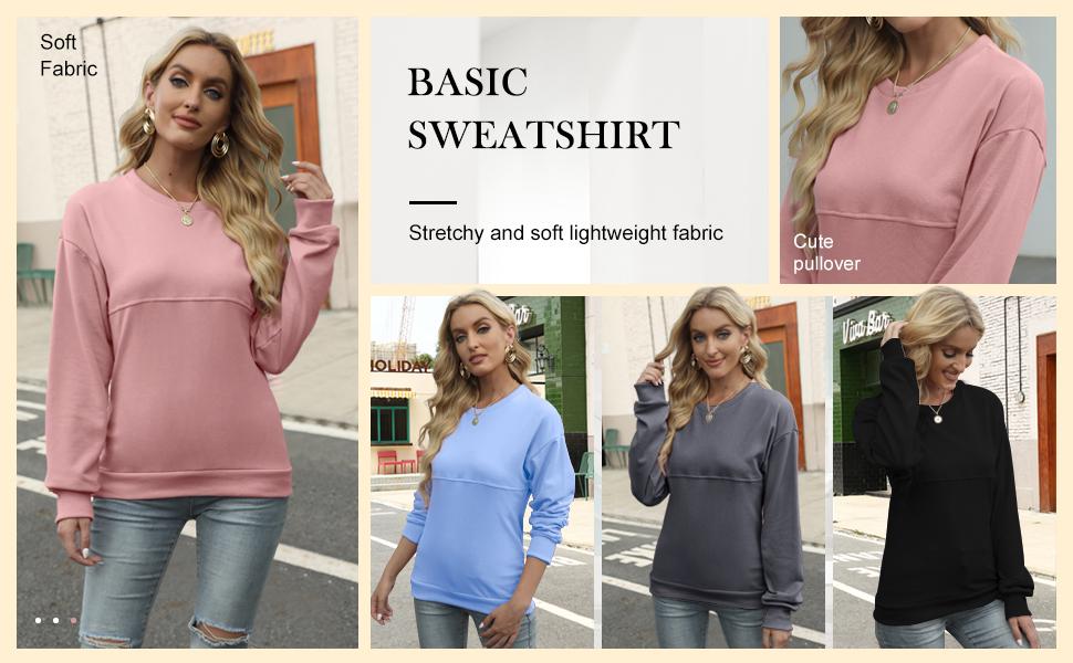 womens pullover sweatshirt crew sweatshirt