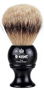 KENT BLK8S Pure Silvertip Badger Shaving Brush