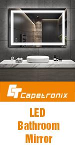 LED bathroom mirror with lights