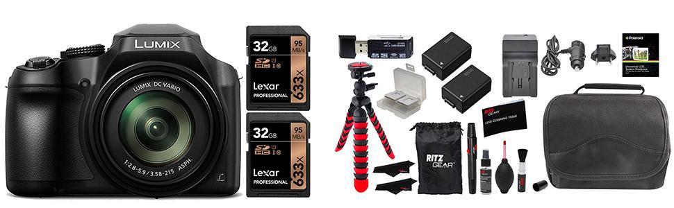 Kit contents of ritz camera fz80 bundle