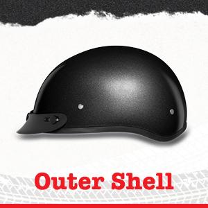 Daytona Helmets skull cap outer shell material description