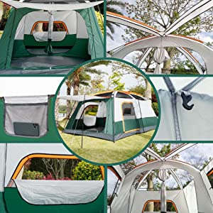 Details For KTT Extra Large Tent 12 Person