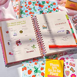 weekly monthly calendar, appointment book, address book