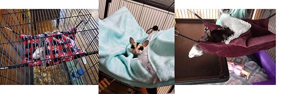 Cozy sack hammocks for small animals