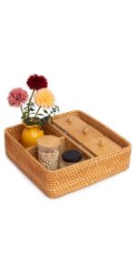 rattan basket compartments toilet paper basket wicker storage baskets rectangle basket wicker