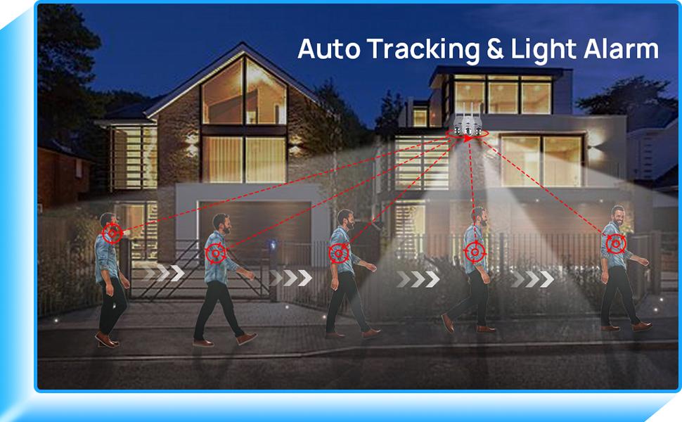 Auto Tracking & Light Alarm