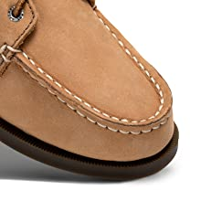 Durable genuine leather upper.