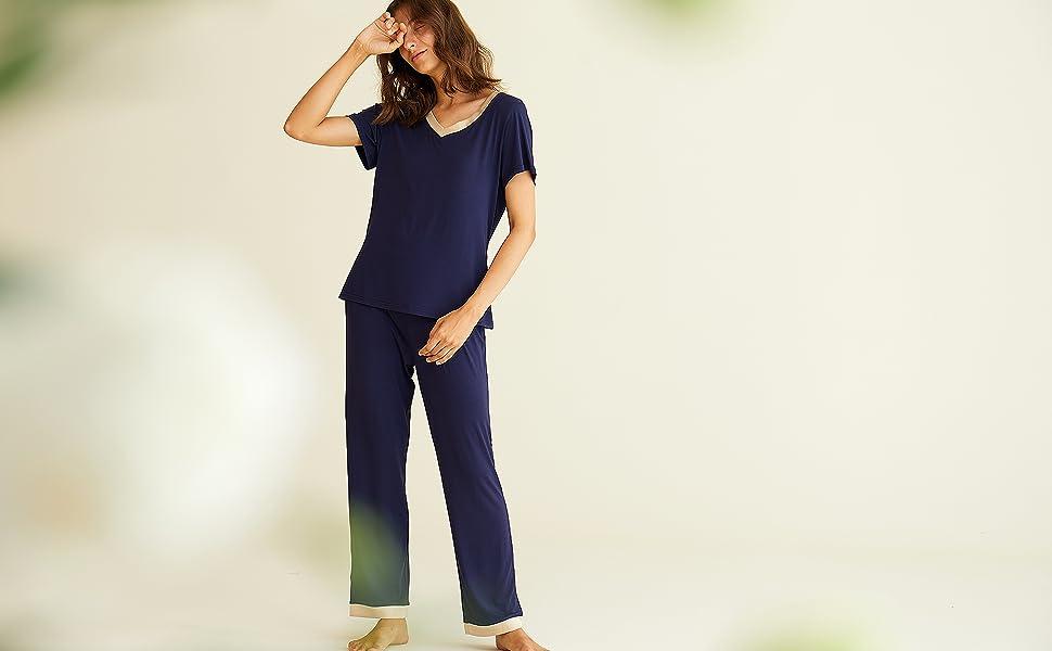 latuza bamboo viscose pajamas set
