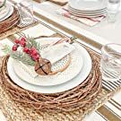 Cotton Table Runners - Striped Table Runner Farmhouse - French Table Runner