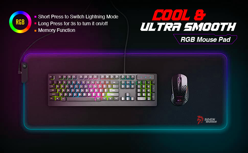 GAMING DESK RGB mouse pad