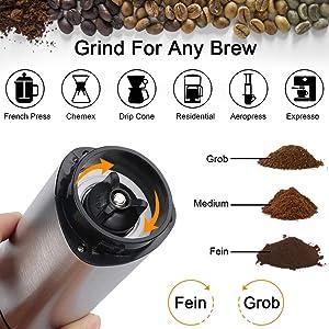 manual coffee grinder ceramic