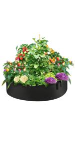 50 Gallon Plant Grow Bags, Round Fabric Raised Garden Beds Planter Pots with 4 Handles