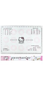 Hello Kitty 23 Inch Silicone Baking Mat