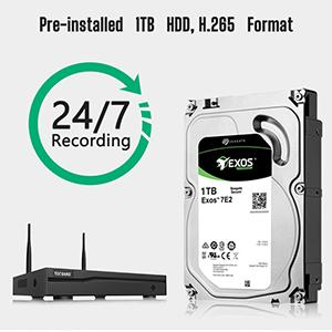 Security Camera Wireless with 1TB Hard Drive