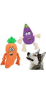 Squeaky Round Eggplant amp;amp;amp;amp;amp;amp;amp;amp; Carrot Toy Kit