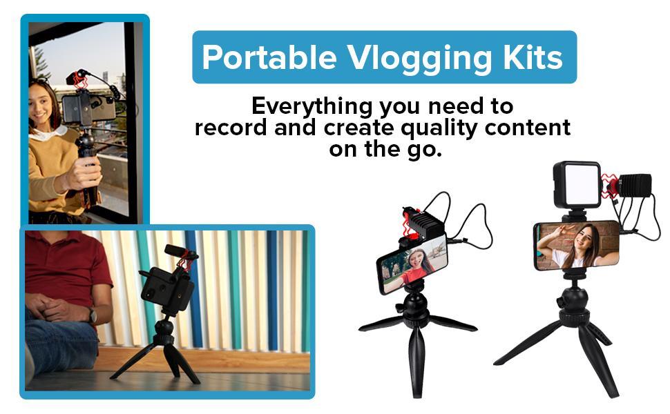 portable vlogging kits