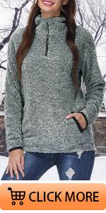 Quarter Zip Fuzzy Sweater