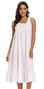 sleeveless cotton nightgowns long
