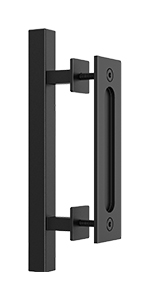 10 inch square barn door handle