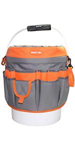 Bucket Idea Bucket Tool Organizer With 35 Pockets Fits to 3.5-5 Gallon Bucket