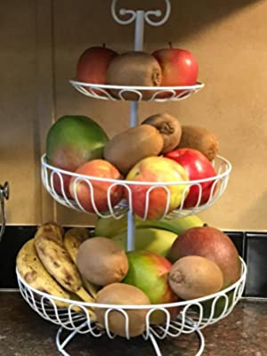 Weiß Obst Etagere 3 Stöckig