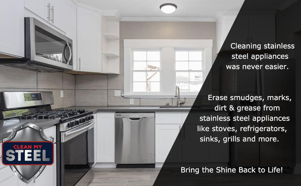 Bring back the shine on stainless steel