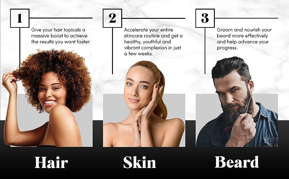 derma roller microneedle micro needling skin care microneedling face body hair beard kit facial set