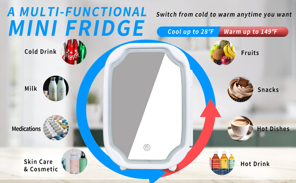 Warmer and Cooler Mini Refrigerator