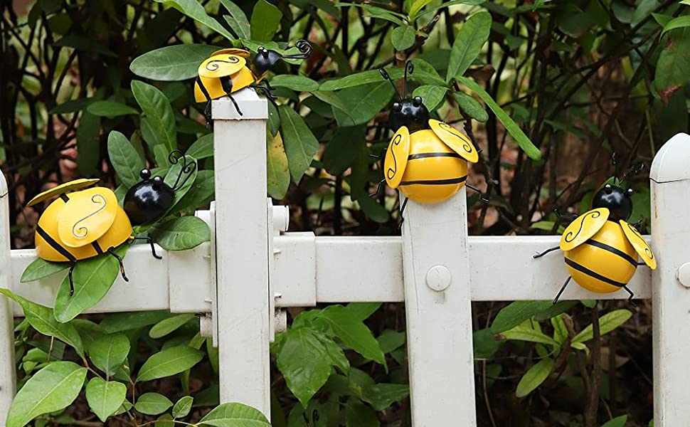 Bees on the fence