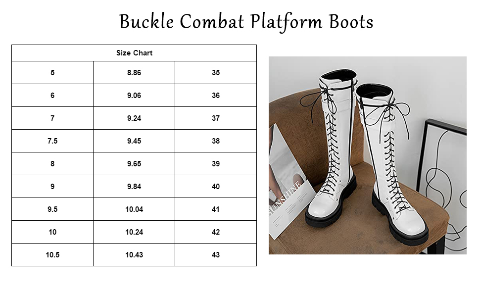 Buckle Combat Platform Boots