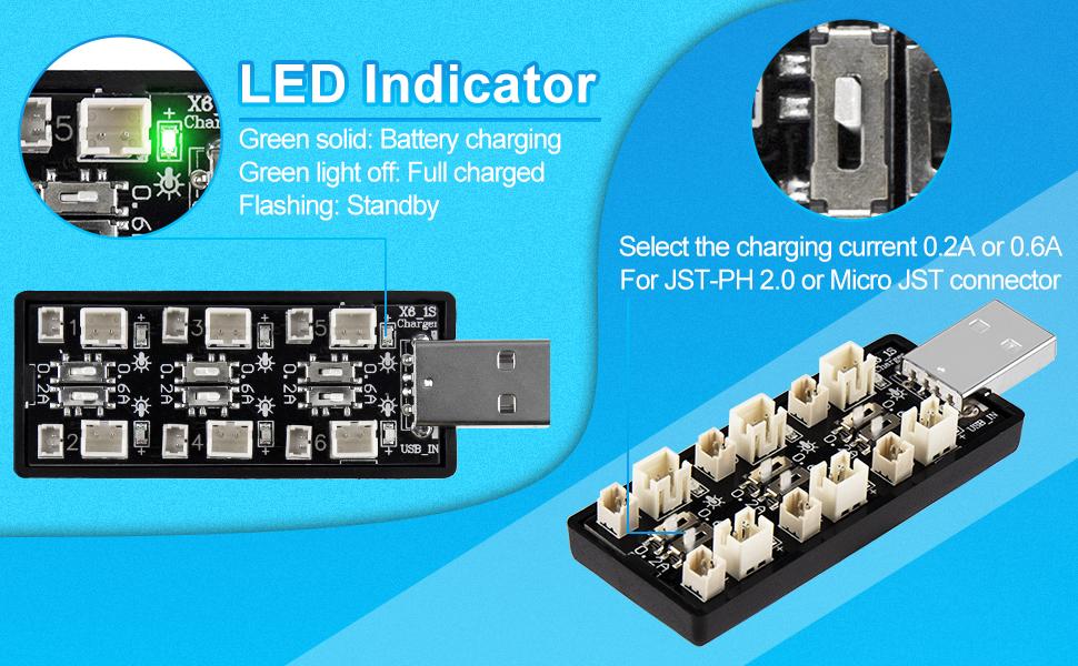 LiPo Battery USB Charger 3.7V/4.20V