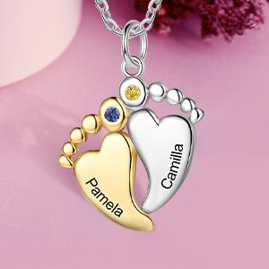 babyfeet pendant necklace