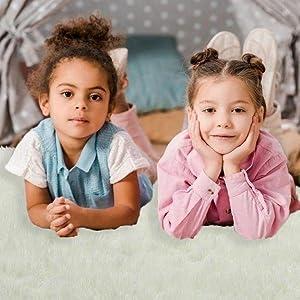 kids rug fluffy play section reading area rug nursery room rug boys rug girls rug floor indoor