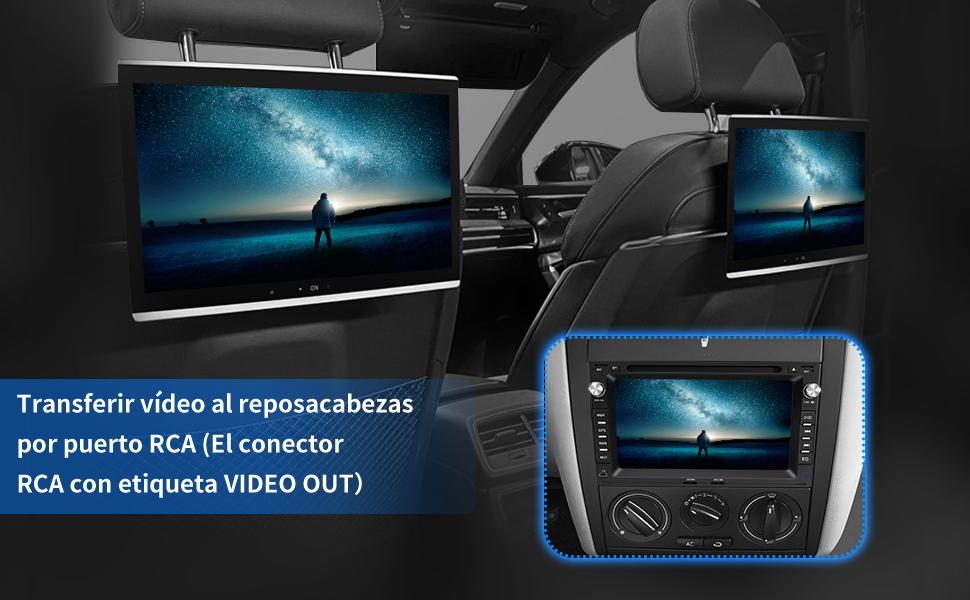 pantalla coche 2 din android vw volkswagen seat alhambra cordoba 6l ibiza leon toledo skoda superb