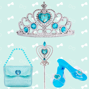 Liberry Princess Dress Up Shoes and Play Jewelry for Little Girls