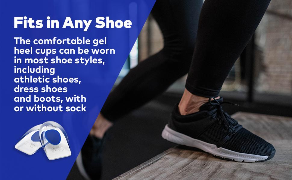 Comfortable gel heel cups