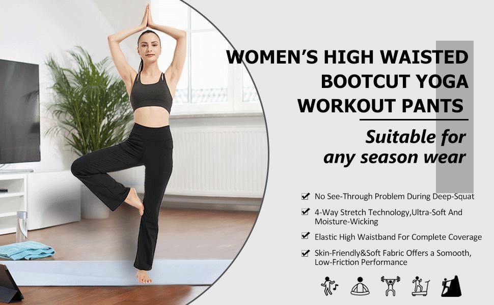 Boot Cut Yoga Pants for Women