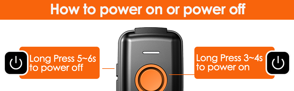How to power on or power off